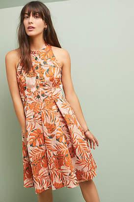 Eva Franco Palm Halter Dress