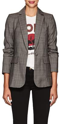 Frame Women's Classic Wool Plaid Twill One-Button Blazer