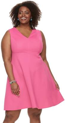 Plus Size Suite 7 Fit & Flare Sleeveless Dress