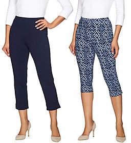 Women with Control Regular Pedal Pushers andCrop Pants Set