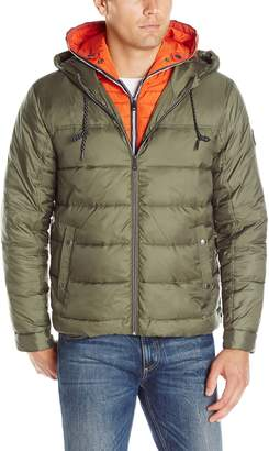 Cole Haan Men's Hooded Down Jacket