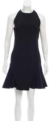 Cushnie et Ochs Sleeveless Flared-Ruffle Dress
