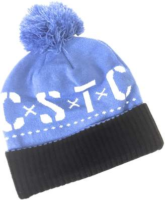 107728a2e7246 at Amazon Canada · Mens Knit Hat Can t Stop the Crooks C.S.T.C. Pom Pom  Black Blue