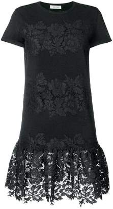 Valentino lace panel sweater dress