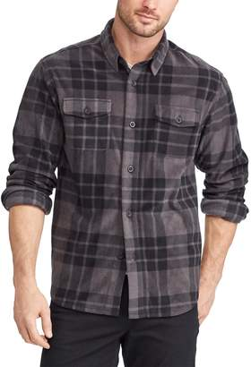 Chaps Men's Regular-Fit Plaid Microfleece Shirt Jacket
