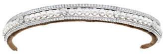 Crislu ANDREW PRINCE BY Pearl-Embellished Headband