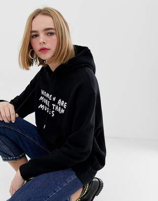 House of Holland Amber muses slogan hoodie