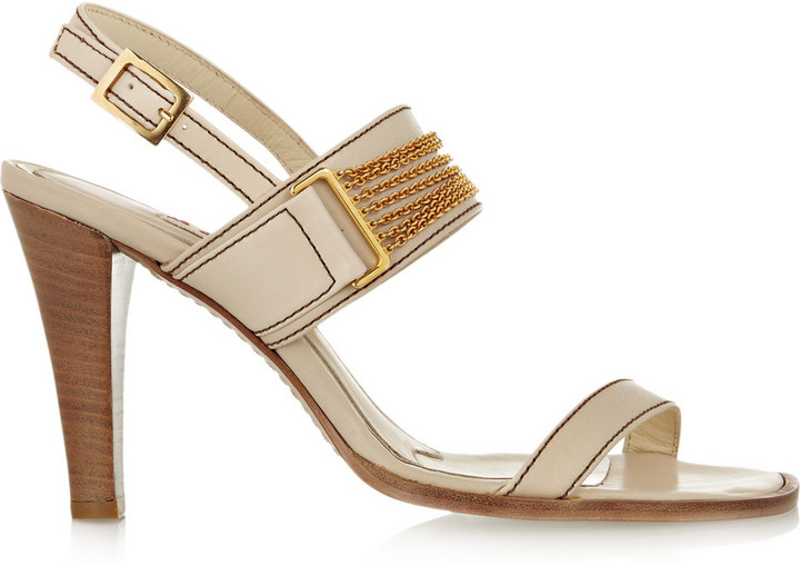 Marni Chain-trimmed leather sandals
