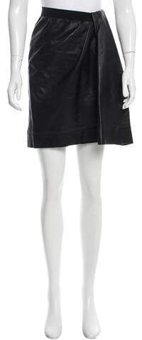 Marc Jacobs Marc Jacobs Leather Knee-Length Skirt
