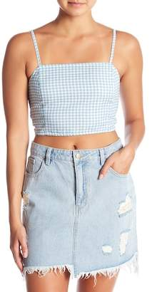 MinkPink Toto Gingham Cropped Tank