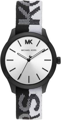 MICHAEL Michael Kors Runway Logo Nylon Strap Watch, 38mm