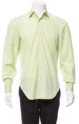 Kiton Plaid Button-Up Shirt