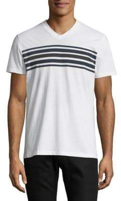 Saks Fifth Avenue Striped Cotton Tee