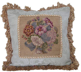 One Kings Lane Vintage Needlepoint Pillow - Mary Jane McCarty Design