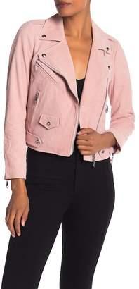 Rebecca Minkoff Wes Moto Suede Leather Jacket
