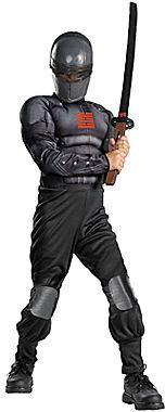 JCPenney Asstd National Brand G.I. Joe Retaliation Snake Eyes Light-up Deluxe Muscle Child Costume