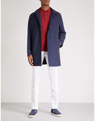 Canali Detachable hood wool-shell raincoat