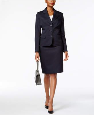 Le Suit Pinstriped Skirt Suit $200 thestylecure.com