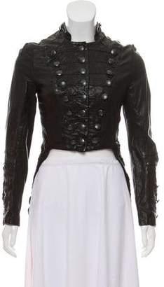 AllSaints Distressed Leather Jacket