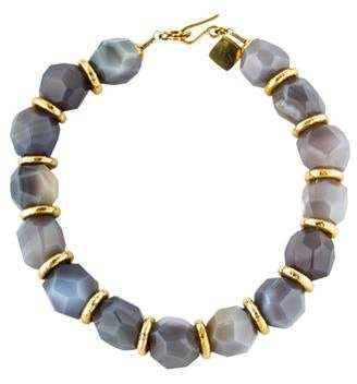 Ashley Pittman Botswana Agate & Bronze Necklace