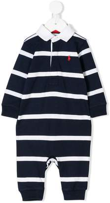 Ralph Lauren Kids long-sleeve striped romper
