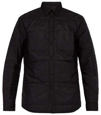 Givenchy Logo Plaque Quilted Overshirt - Mens - Black