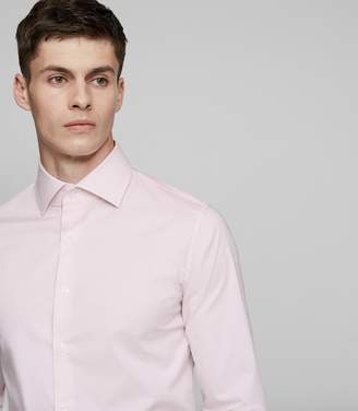Reiss OXIDE SLIM-FIT STRETCH SHIRT Soft Pink