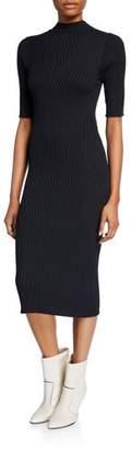Joie Bryella Ribbed Short-Sleeve Midi Dress