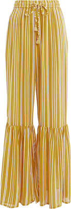 Faithfull The Brand Bisou Wide Leg Striped Trousers