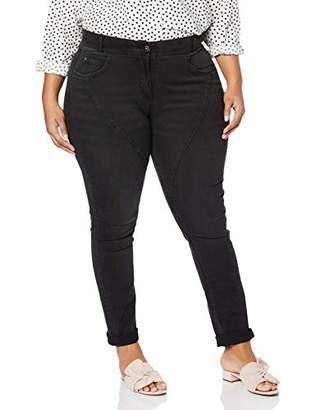 4812ac2c867 Ulla Popken Women's Jeans Mit Ziernähten Und Blumenstickerei, Curvy, Große  Größen Slim Jeans Not