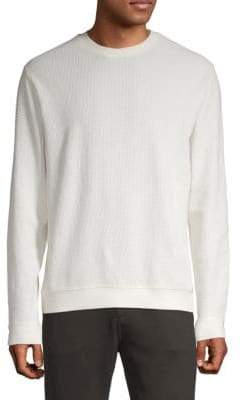 Vince Cotton Waffle-Knit Sweater