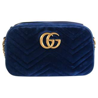 Gucci Marmont Blue Velvet Handbags