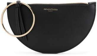 Sara Battaglia half-moon clutch bag