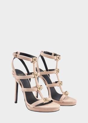 Versace Suede Signature Medusa Strap Sandal