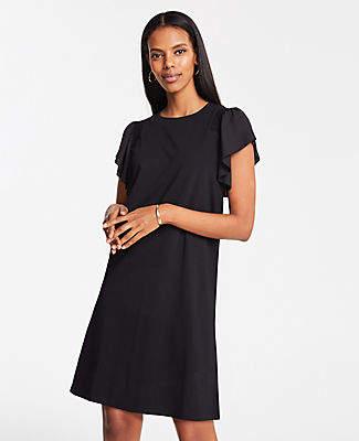 Ann Taylor Smocked Knit T-Shirt Dress