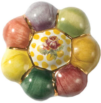 Mackenzie Childs MacKenzie-Childs Flower Rosie Posie Majolica Decorative Knob