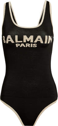 Balmain Logo Knit Bodysuit