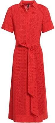 Lisa Marie Fernandez Broderie Anglaise Cotton Midi Shirt Dress