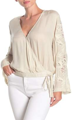 On The Road Dutchess Bell Sleeve Wrap Blouse