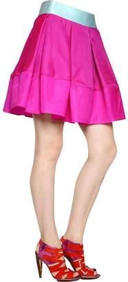 Antonio Berardi Silk Satin & Organza Skirt