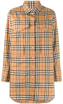 Burberry vintage check oversized shirt