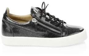 Giuseppe Zanotti Glitter Patent Leather Sneakers