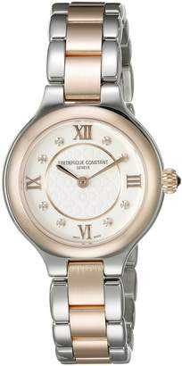 Frederique Constant Classics Delight Women's Dial Two Tone Swiss Diamond Watch FC-200WHD1ER32B