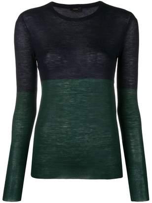 Joseph contrast long-sleeve sweater