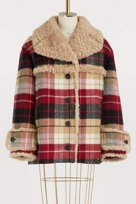 Miu Miu Check wool coat