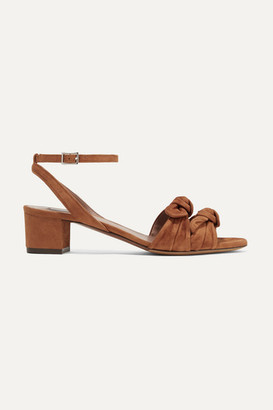 Tabitha Simmons Eloy Bow-embellished Suede Sandals - Camel