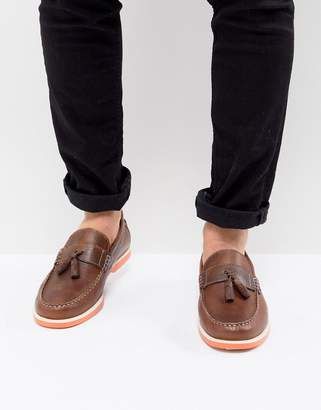 KG by Kurt Geiger KG Kurt Geiger Tassel Boat Shoes In Brown
