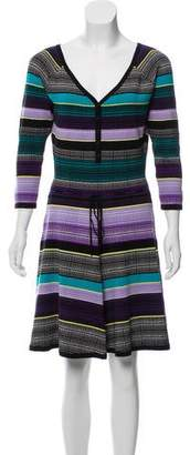 Diane von Furstenberg Long Sleeve Knit Mini Dress