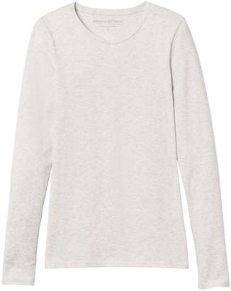Banana Republic Stretch Cotton-Modal Long-Sleeve Crew