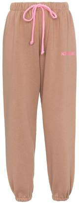 Natasha Zinko mid rise cotton blend track pants